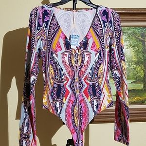 Free people long sleeve body suit L3